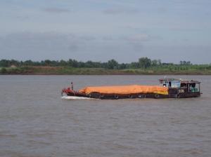 aboard vishnu to cross the river